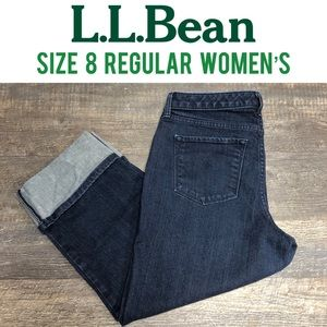 L. L. Bean straight fit crop denim jeans